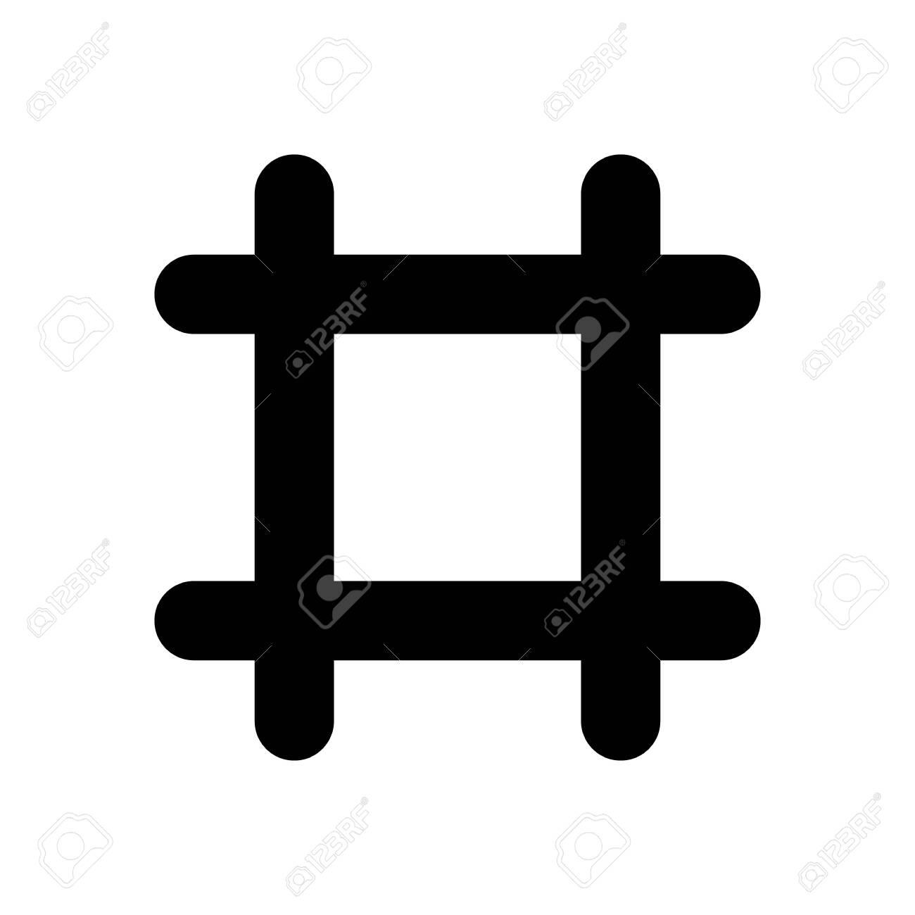Prison. vector Simple modern icon design illustration. - 144324275