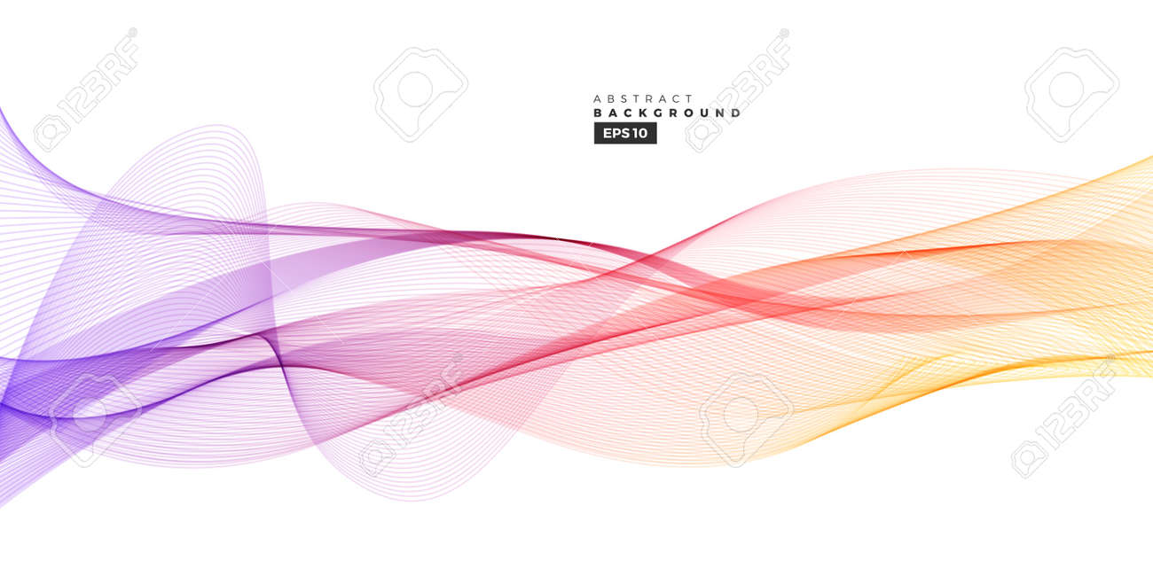 Colorful gradient abstract line wave background for multipurpose usage like brochure, cover, flyer. - 167145103