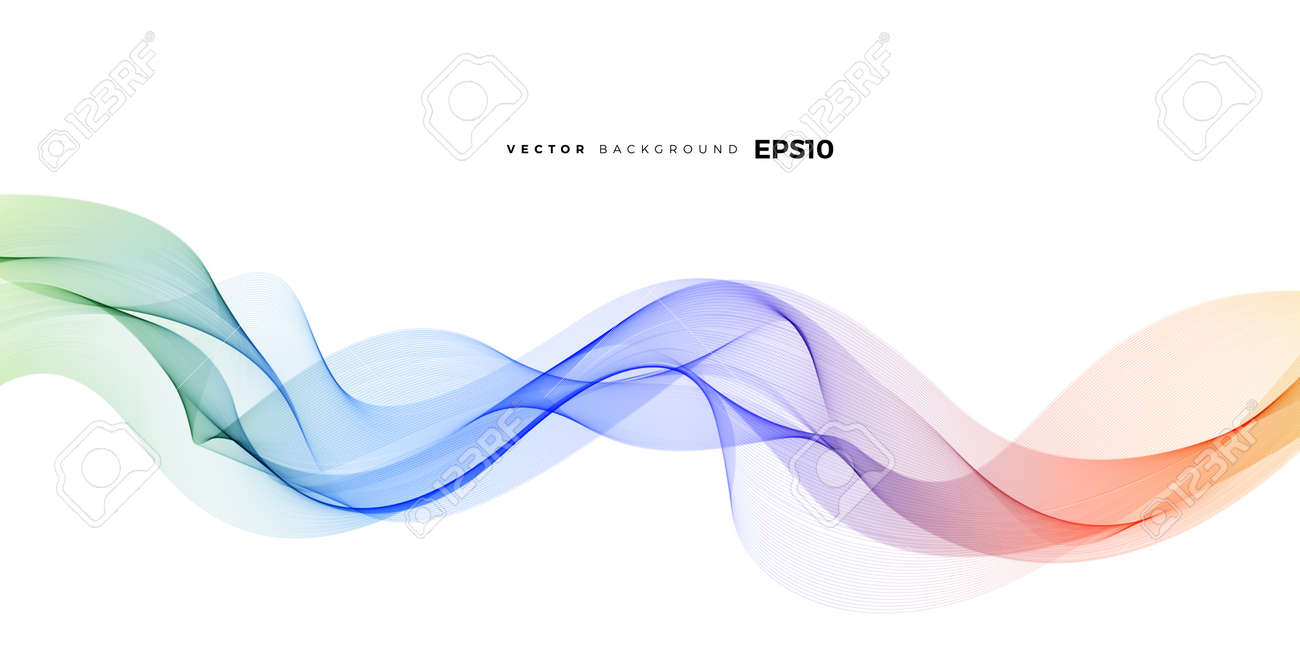 Wave vector element with abstract colorful gradient lines for website, banner and brochure, Curve flow motion illustration, Vector lines, Modern background design. - 167443217