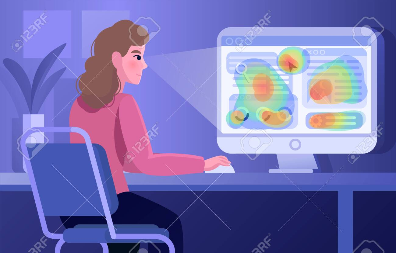 Vector illustration of an eye flow moves concept - 158277936