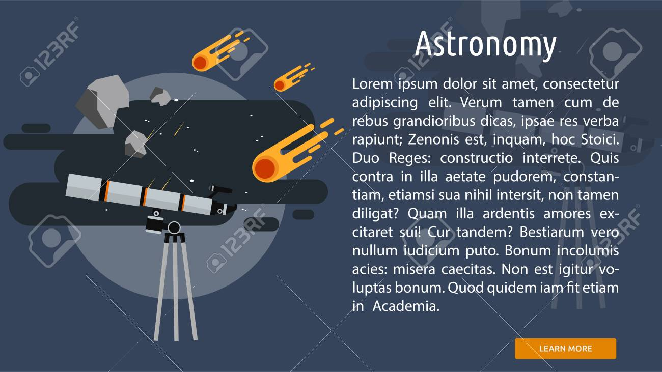 Astronomy Conceptual Banner Royalty Free Cliparts Vectors And Stock Illustration Image 68388250
