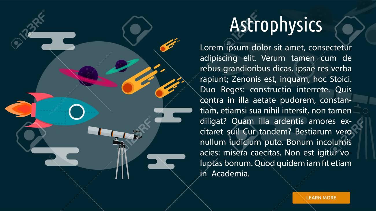 天体物理学の概念的なバナー ロ...