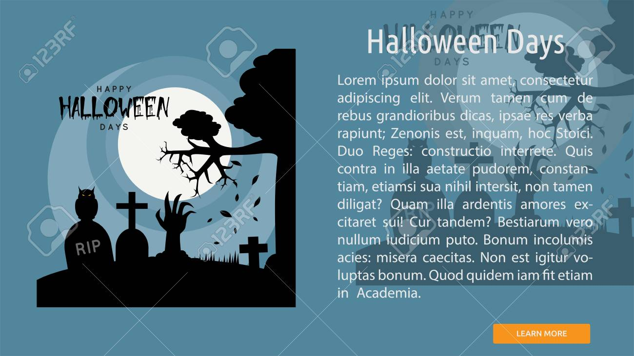 halloween days conceptual banner royalty free cliparts, vectors, and