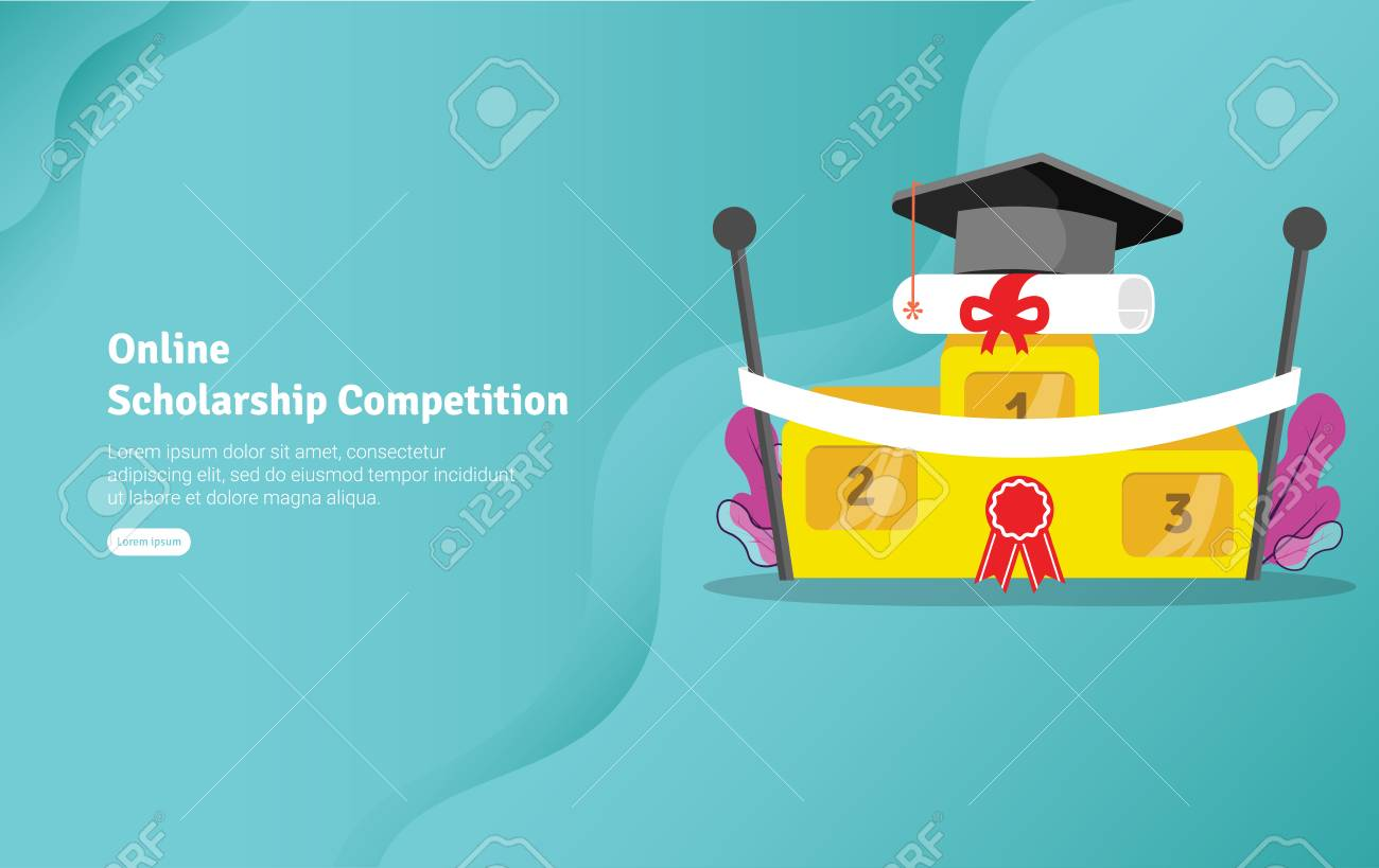 Online Scholarship Concept Educational And Scientific Illustration Royalty Free Cliparts Vectors And Stock Illustration Image 125051002