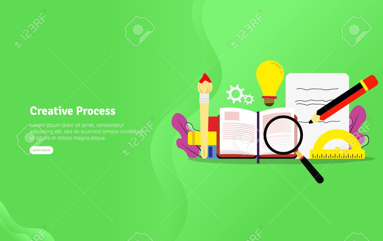 Educational Creative Process Concept And Scientific Illustration Royalty Free Cliparts Vectors And Stock Illustration Image 125051004