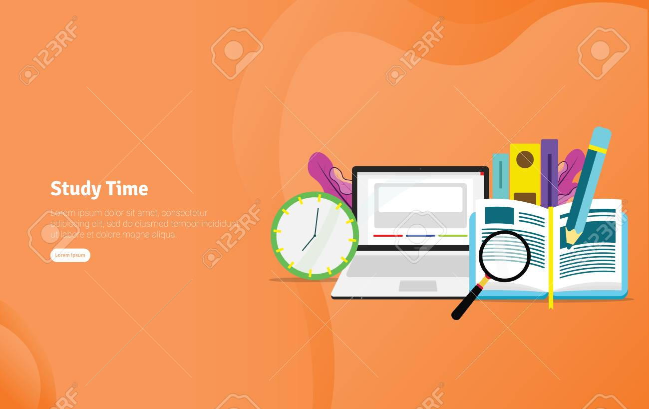 Study Time Students Concept Educational And Scientific Illustration Royalty Free Cliparts Vectors And Stock Illustration Image 125051012