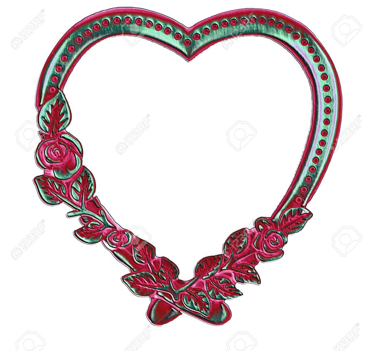 stock photo vintage antique heart frame