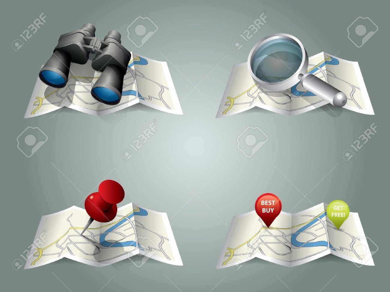 Vector folding map Stock Vector - 9931189