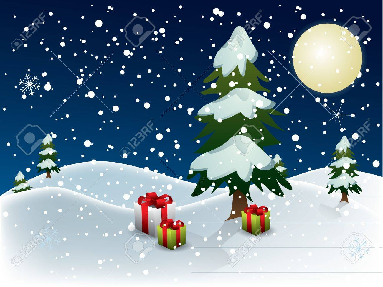 Christmas night Stock Vector - 10938209
