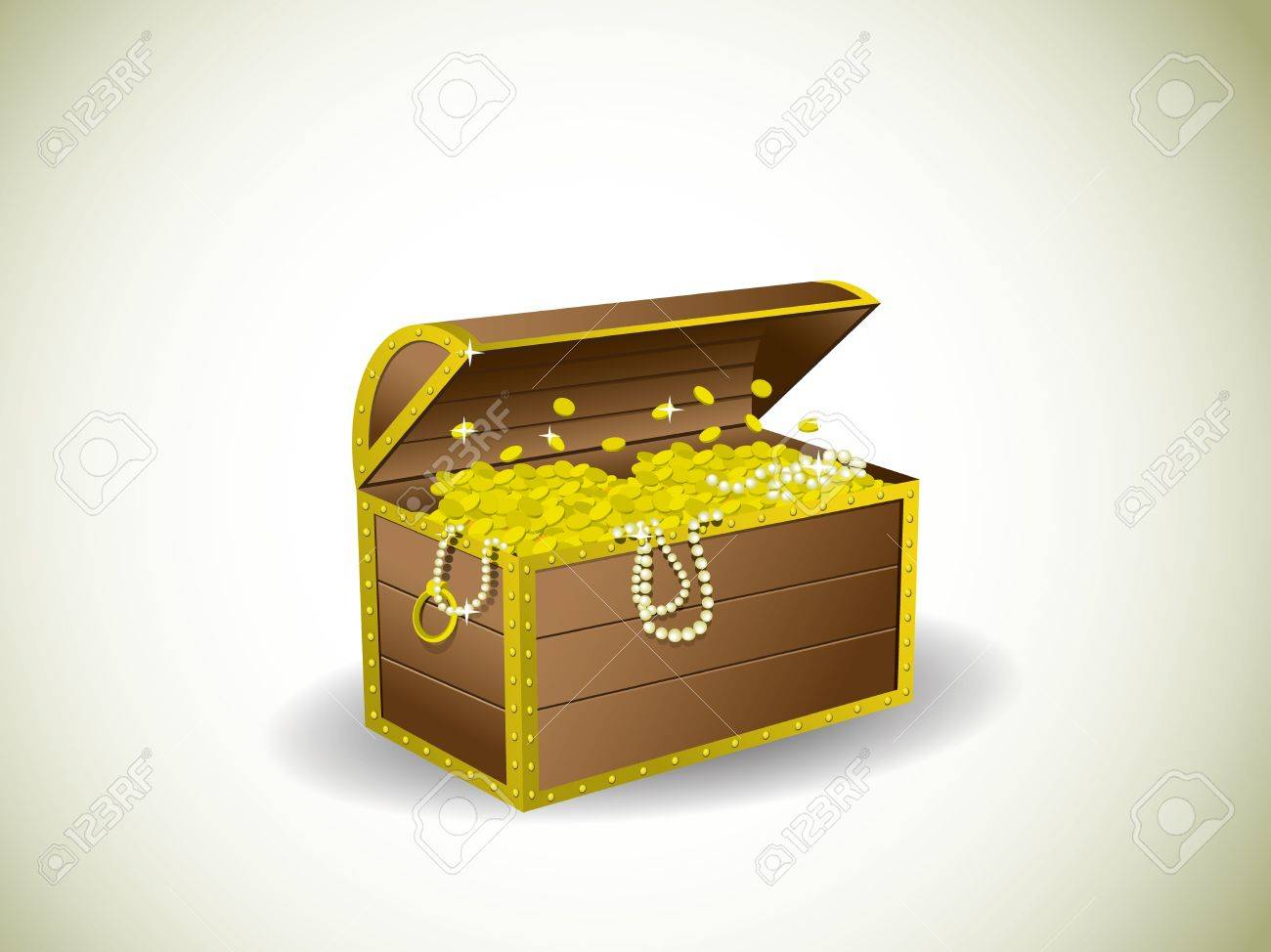 Treasure chest Stock Vector - 12396938