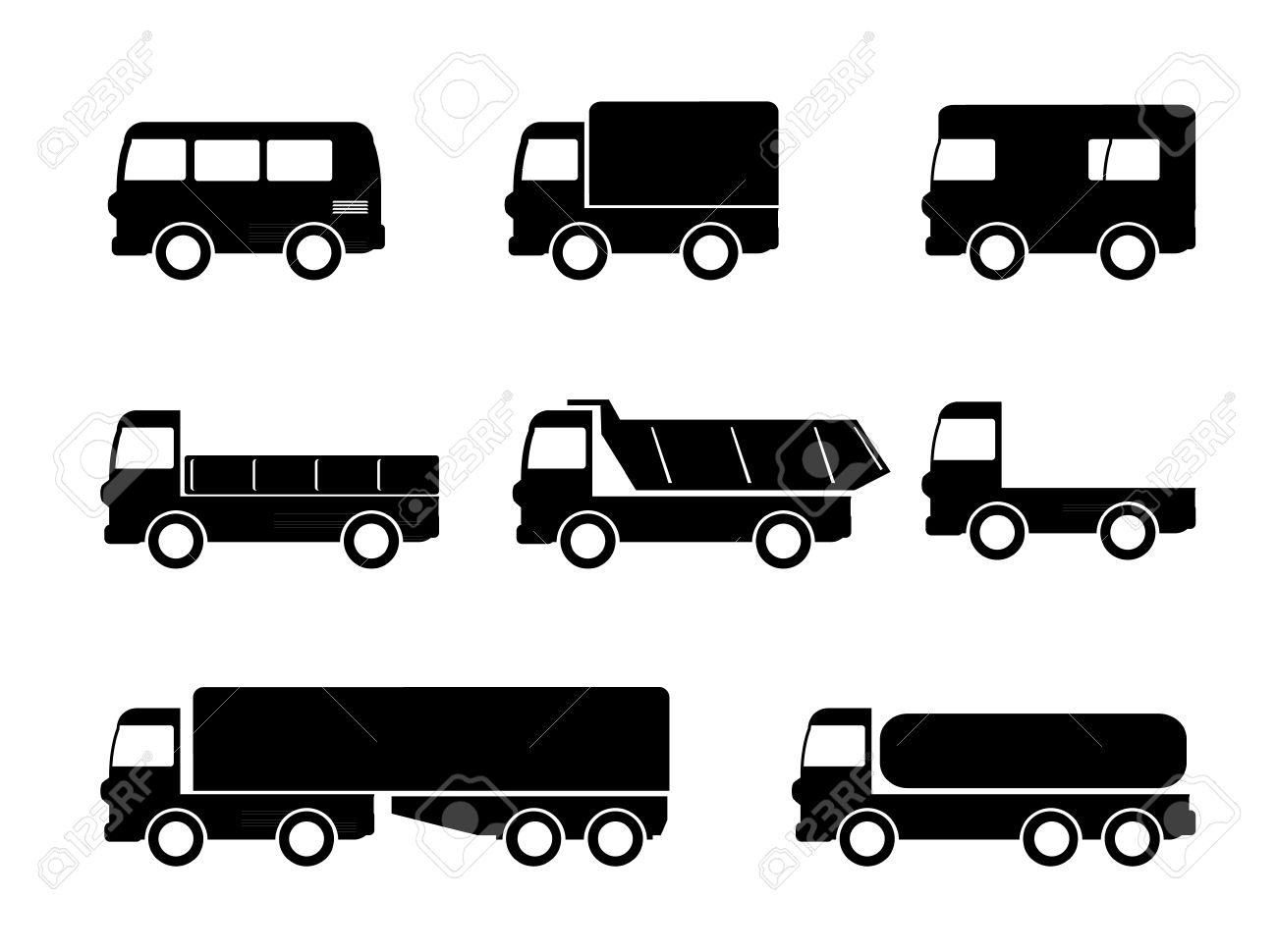 transport truck icons royalty free cliparts vectors and stock