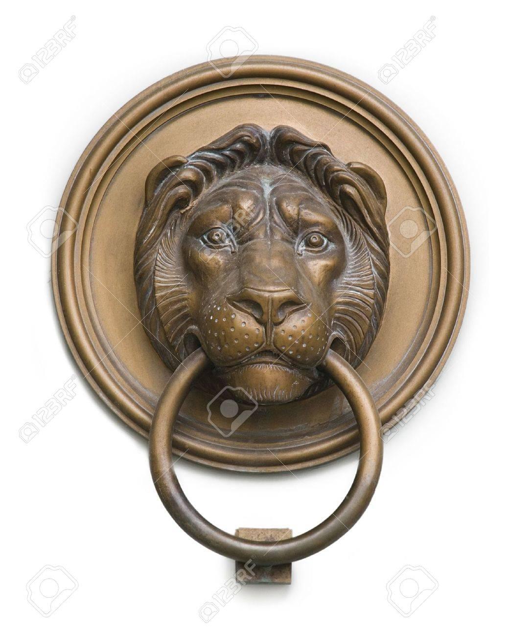 isolated lionhead knocker from hungary Stock Photo - 3294012