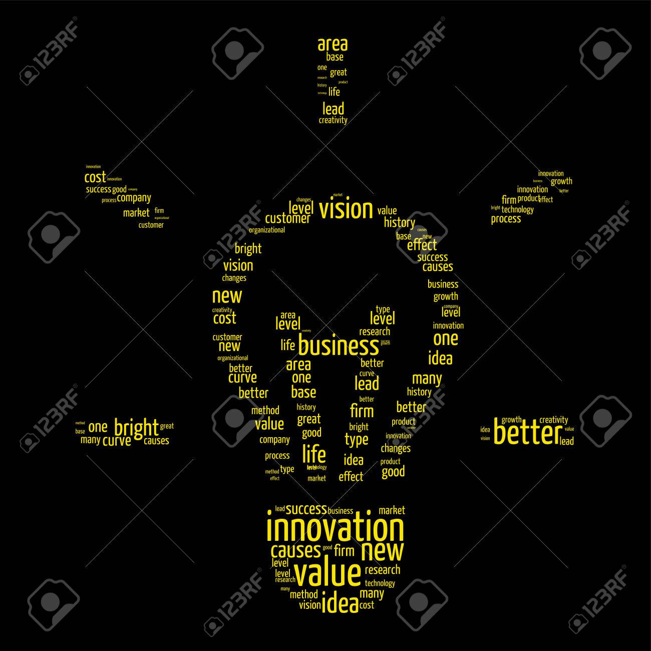 Innovation concept bulb shaped word cloud royalty free cliparts innovation concept bulb shaped word cloud stock vector 28497548 biocorpaavc Images