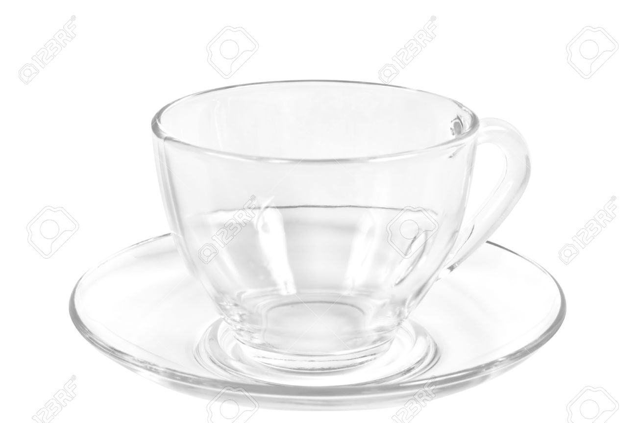 Coffee cup transparent - Transparent Tea Or Coffee Cup And Saucer On A White Background Stock Photo 10720800