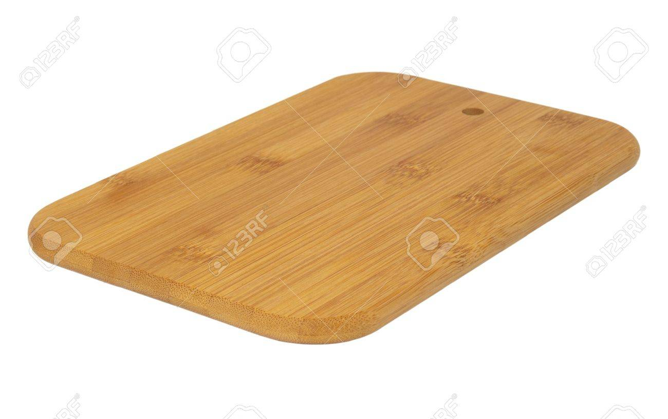 Wooden cutting board isolated on white background Stock Photo - 10744542