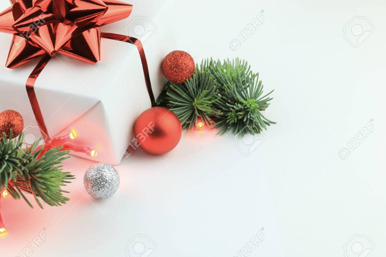 christmas decorations white background pictures