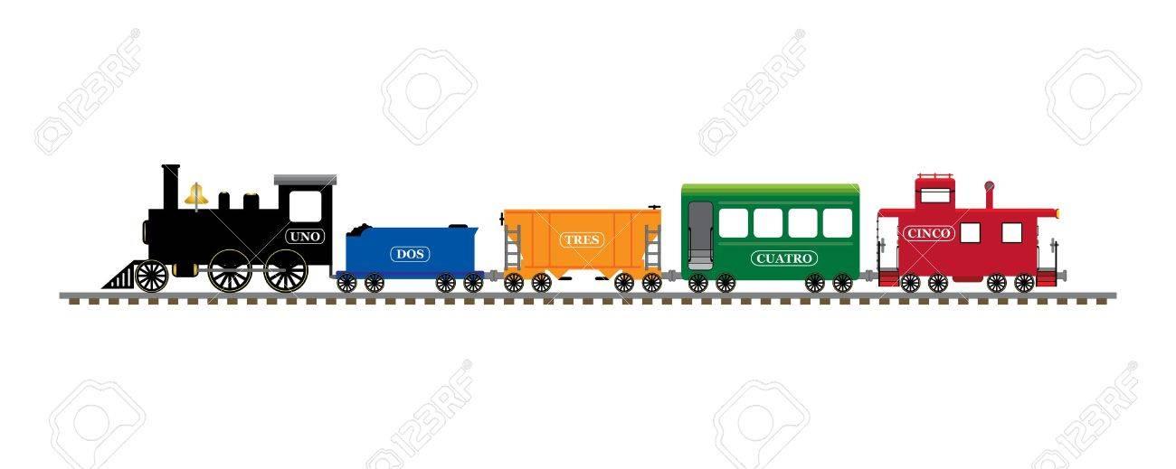 Spanish number train Stock Photo - 9678537