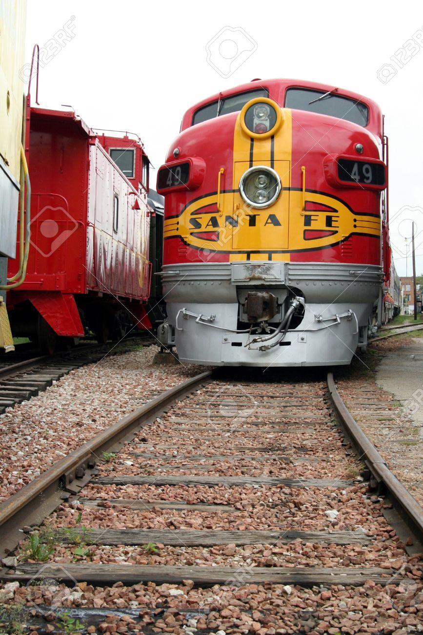dallas texas july 2007 railway museum santa fe train engine