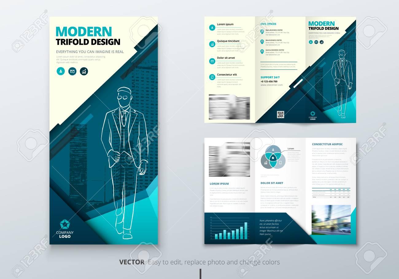 tri fold brochure design dl corporate business template for