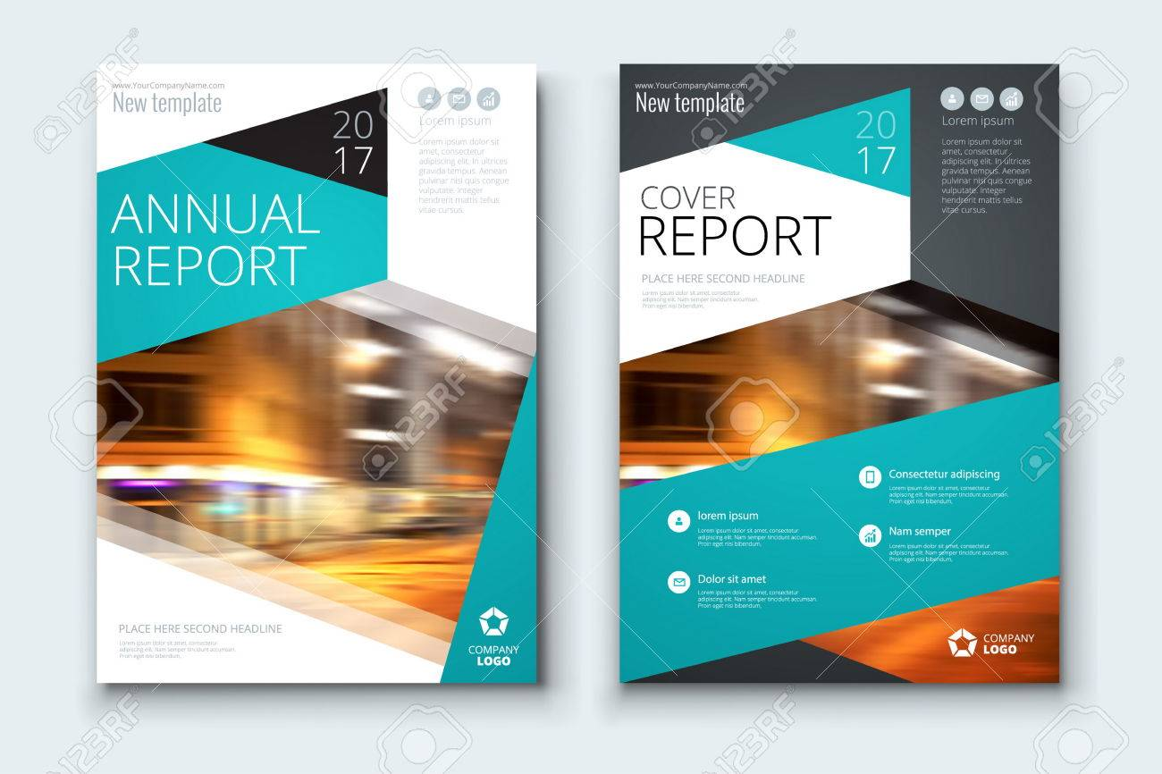 corporate business annual report cover brochure or flyer design