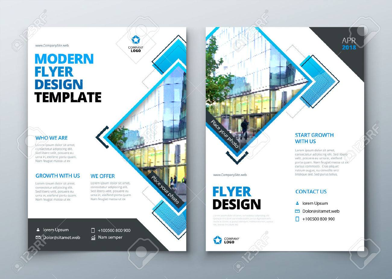 flyer design corporate business report cover brochure or flyer