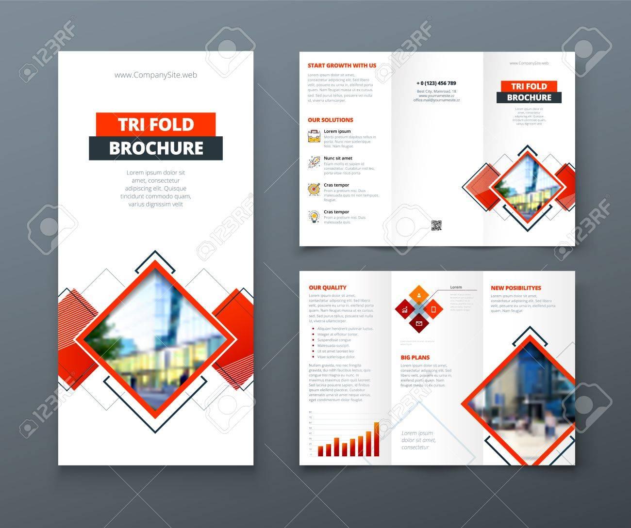 tri fold brochure design corporate business template for tri