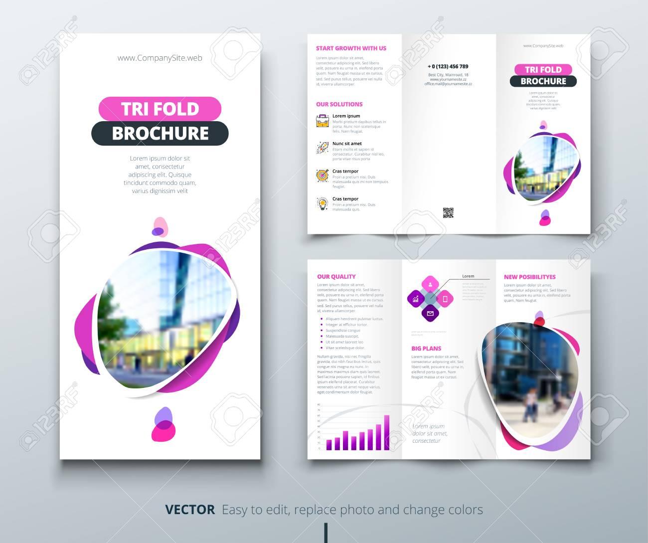 Business tri fold brochure design pink purple template for business tri fold brochure design pink purple template for tri fold flyer layout flashek Gallery