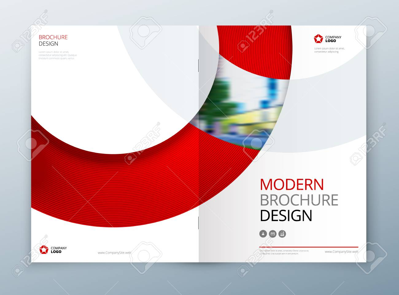 Brochure Template Layout Design. Corporate Business Annual Report ...