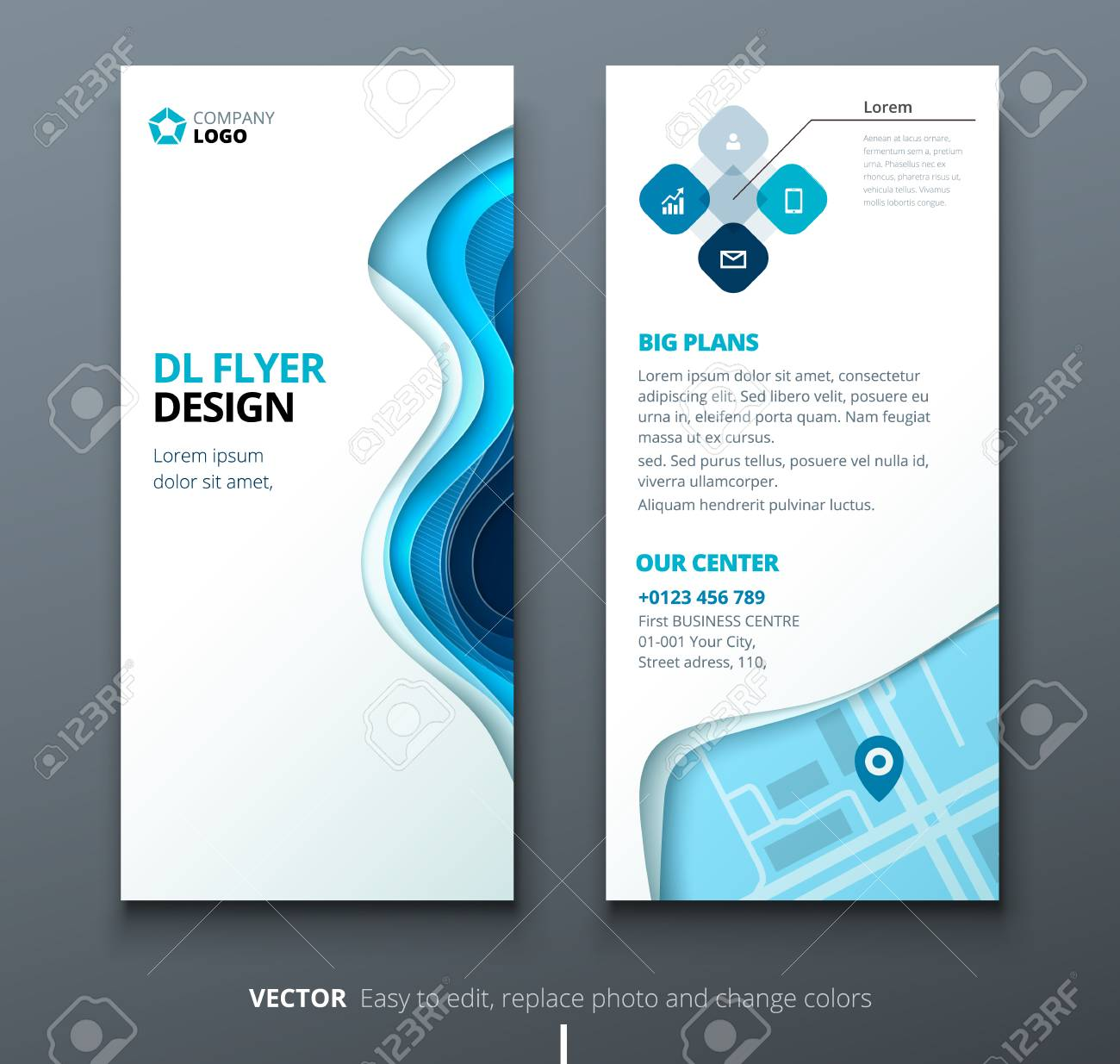 Dl Flyer Design Corporate Business Template For Brochure Or