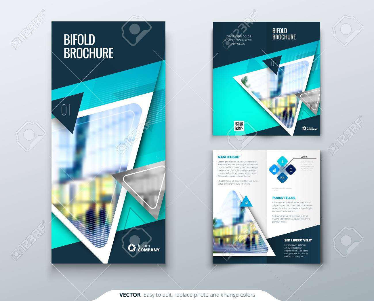 bi fold brochure design teal template for bi fold flyer layout