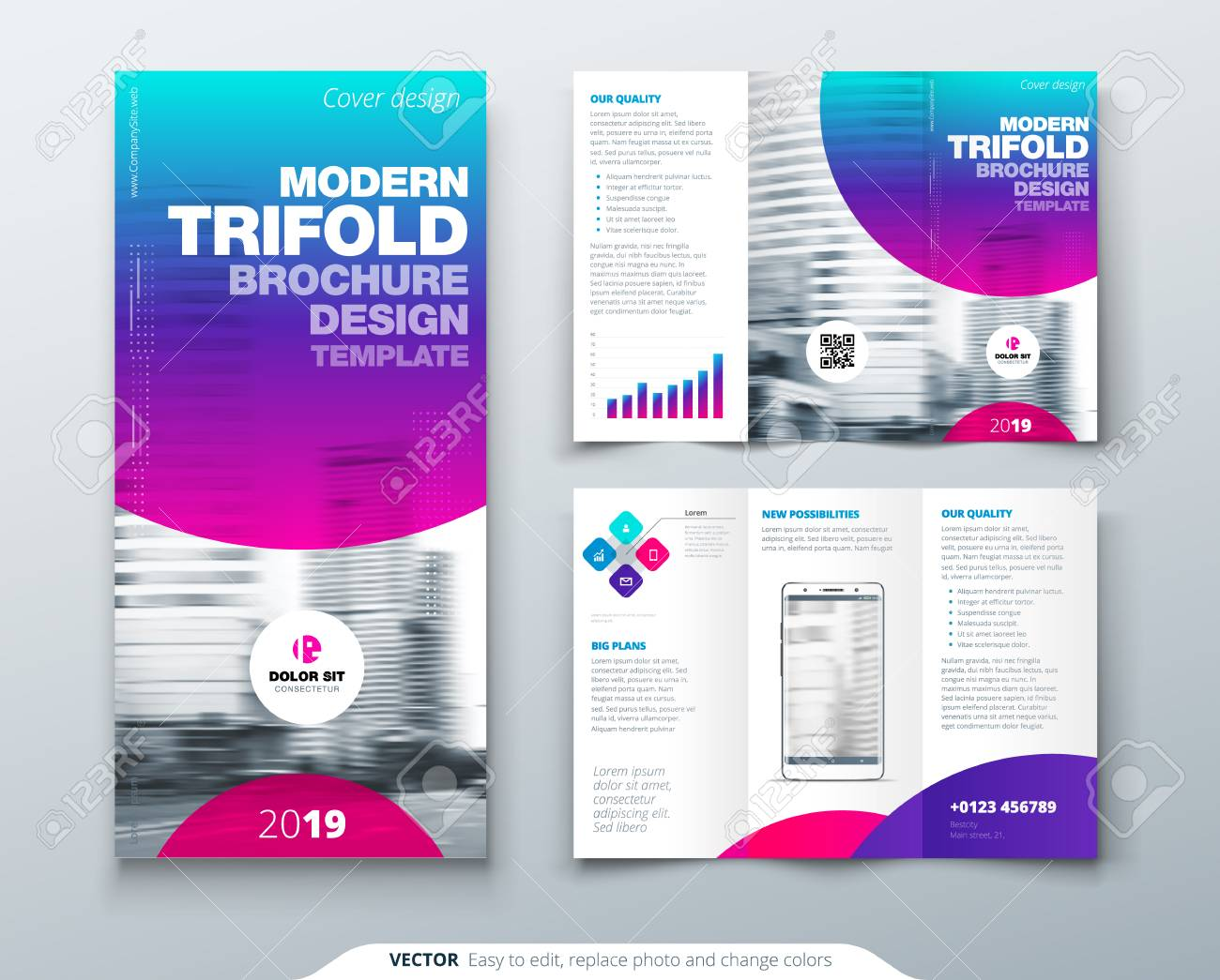 tri fold brochure design cool business template for tri fold