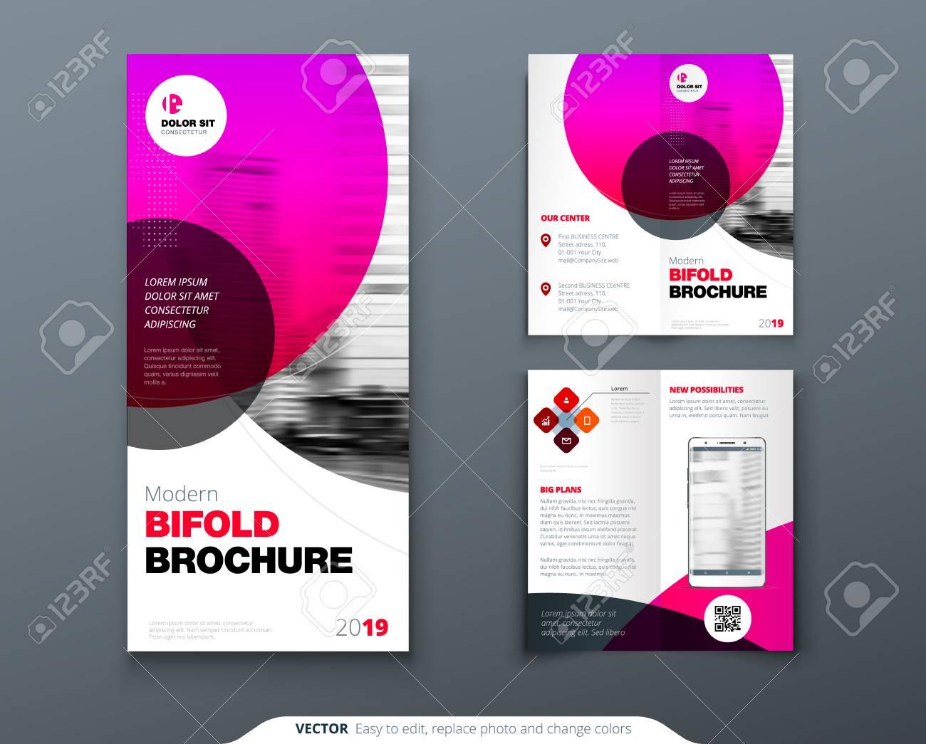 tri fold brochure design pink business template for tri fold