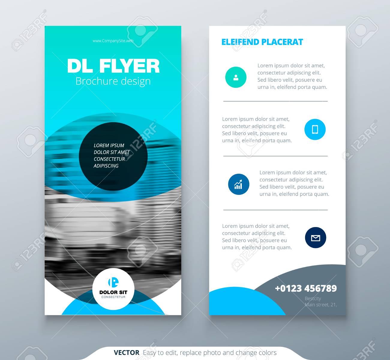 DL Flyer Design. Blue Business Template For Dl Flyer. Layout ...