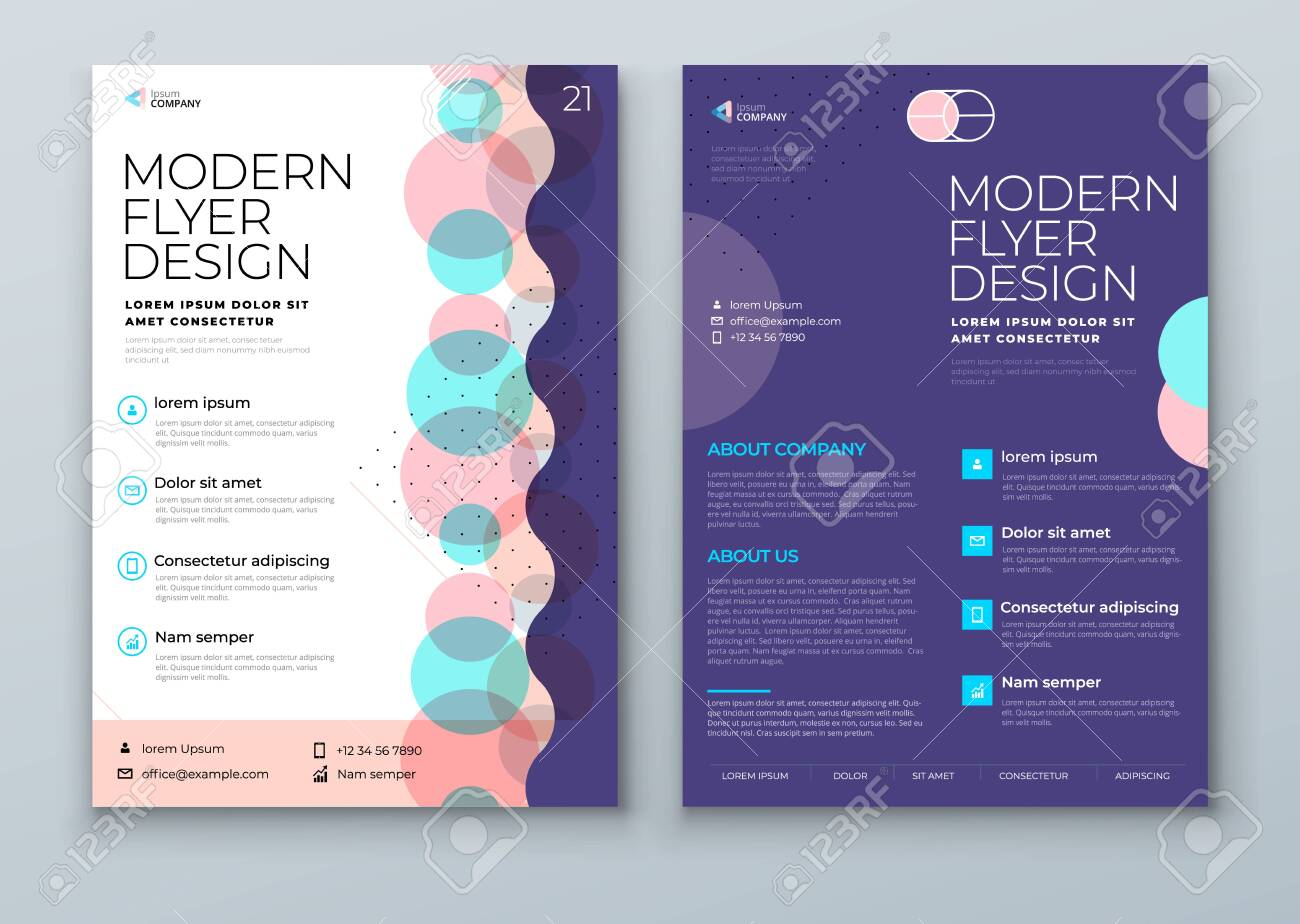 Flyer template layout design. Corporate business annual report, catalog, magazine, flyer mockup. Creative modern background flyer concept in abstract flat style shape - 142851071