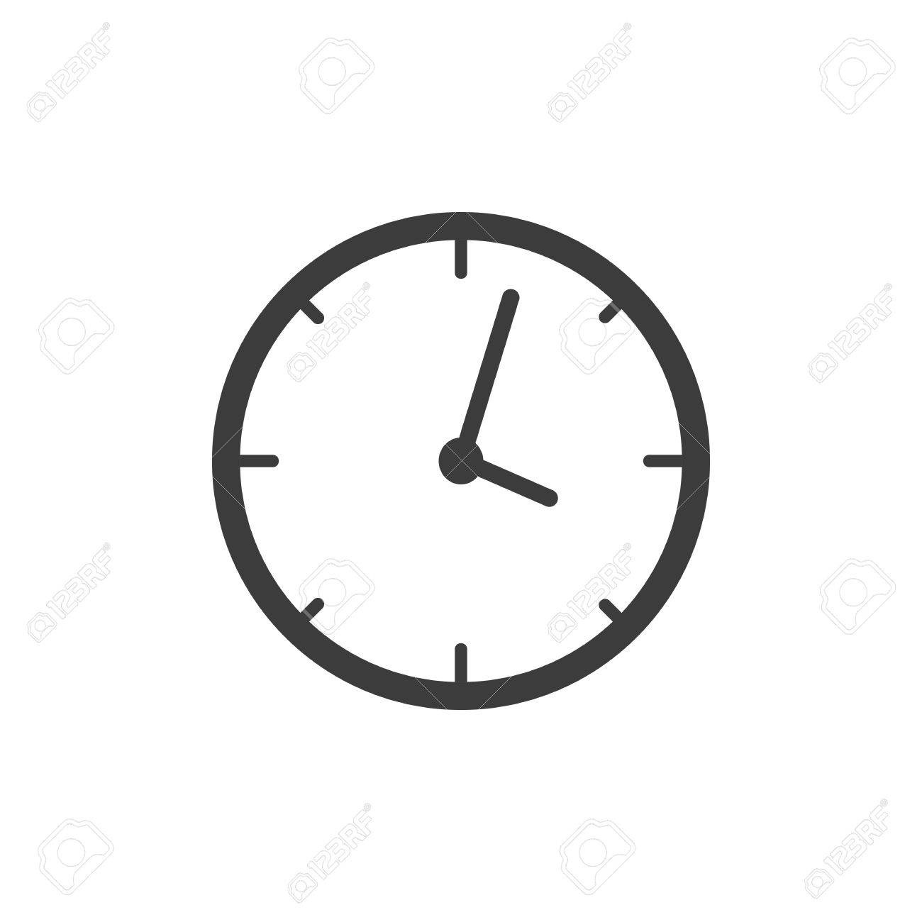 clock icon clock vector isolated on white background royalty free rh 123rf com time clock icon vector