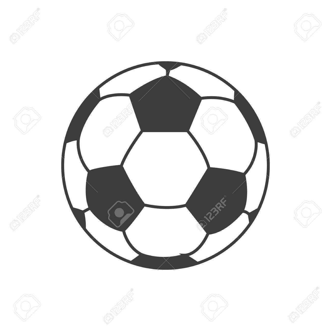 Soccer ball icon. Soccer ball Vector isolated on white background. - 60582671