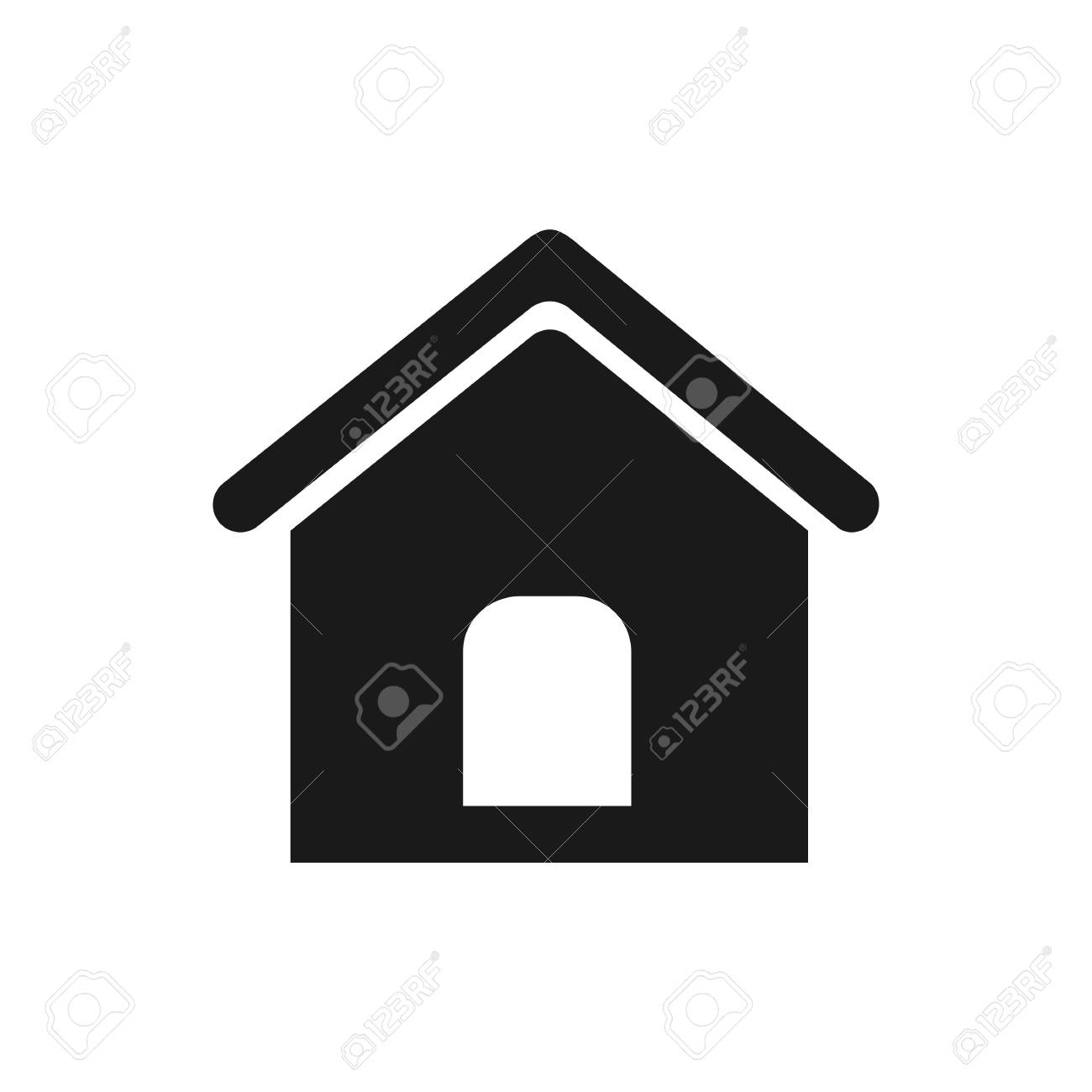 home icon vector flat icon home flat vector illustration for rh 123rf com home icon vector ai free download android home icon vector