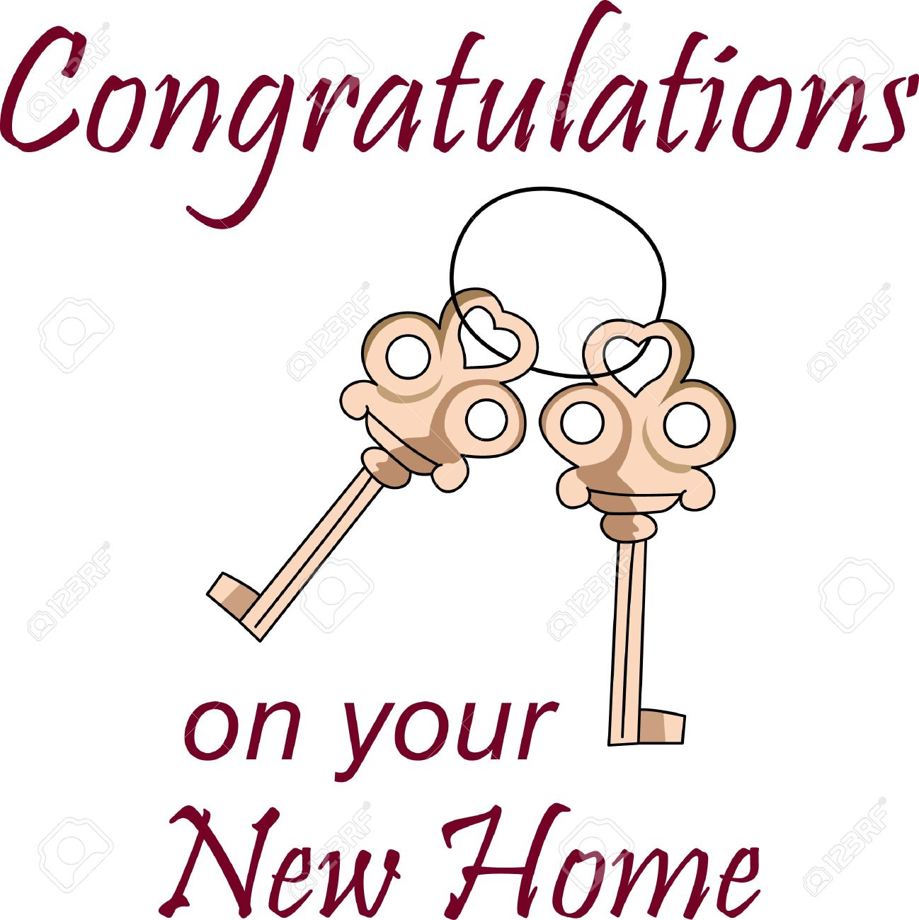 Congratulations On New Home New Home Congratulations Cards New