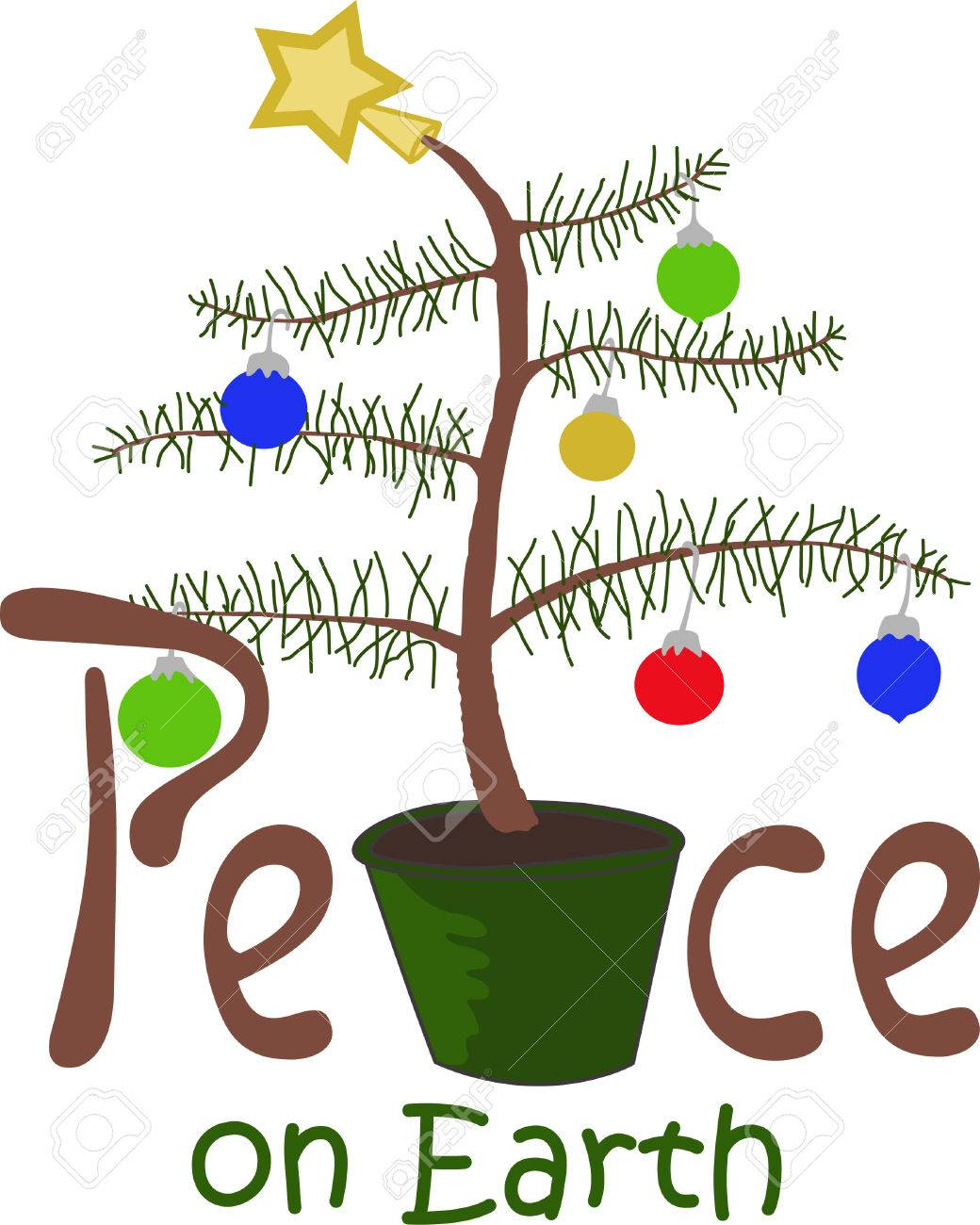 Ho Ho Ho! Wish a merry Christmas to all with this cute Charlie Brown Tree, they will love it. - 45056905