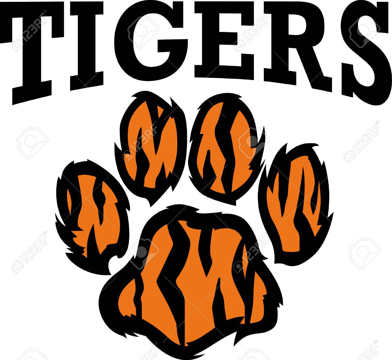 Show Your Team Spirit With This Tiger Paw Logo. Everyone Will ...