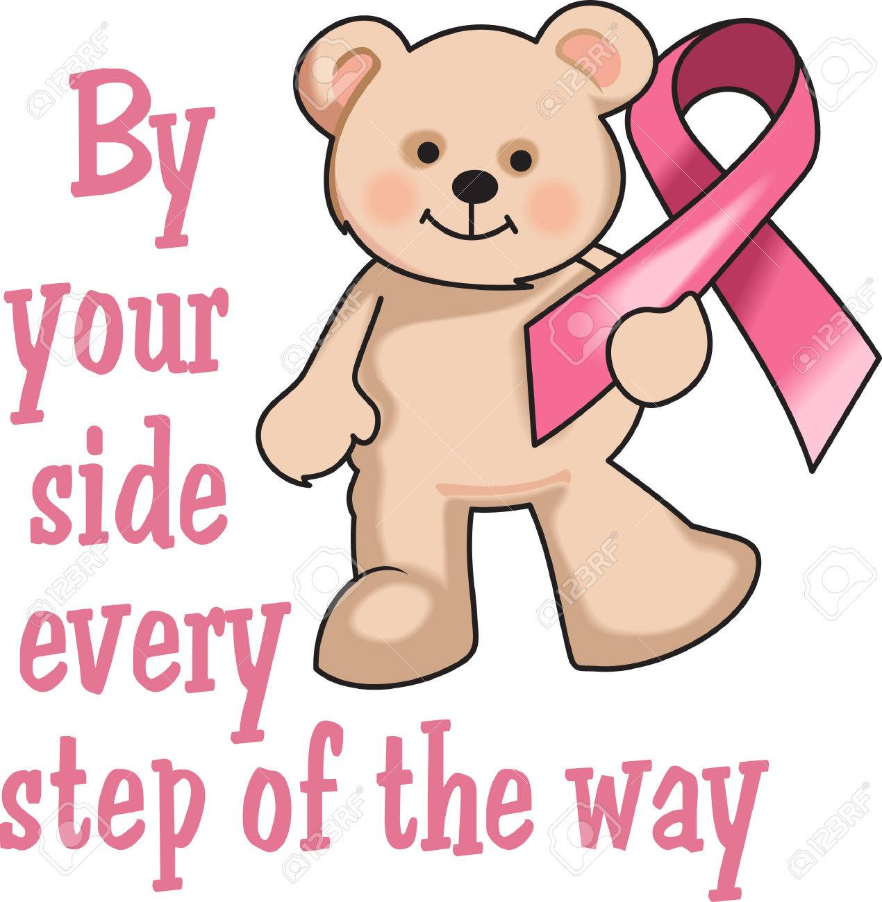 This Is A Cute Bear With The Breast Cancer Ribbon Support Someone