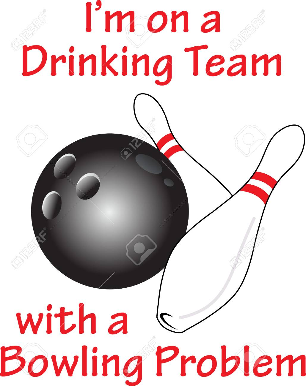 The Perfect Design For The Bowling Team Place On Shirts And