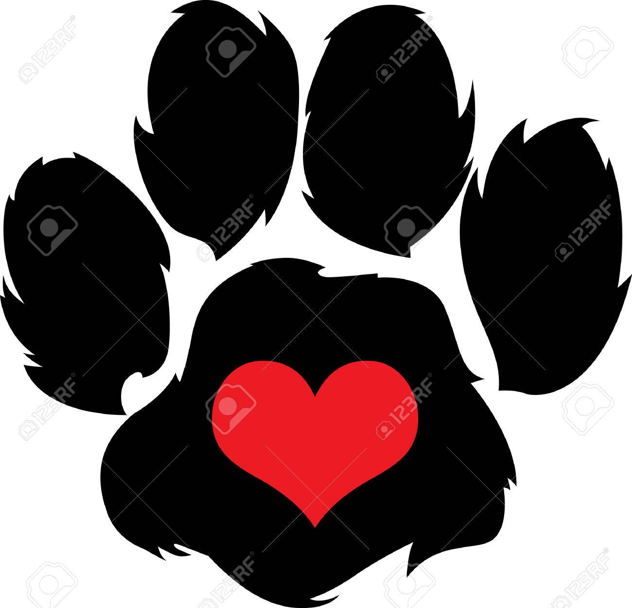 Send your friends these cute paw prints! My dog walks all over me. Its sure to bring a smile! - 45096510