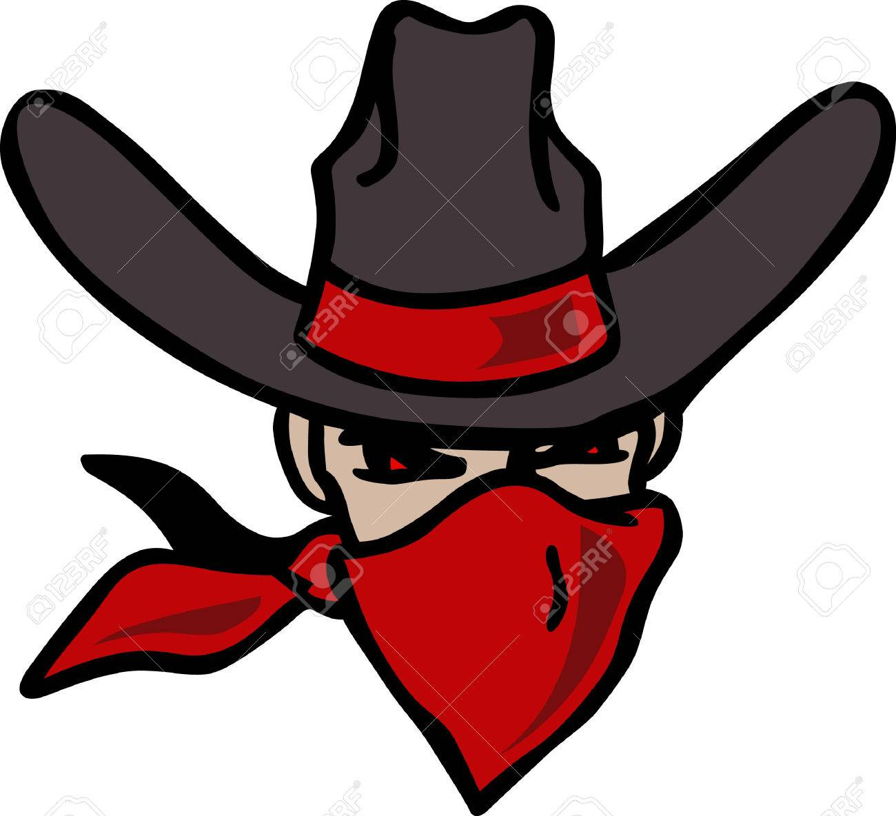 a25c81325c3 The cowboy outlaw is the perfect design for the Rodeo. Stock Vector -  45176655