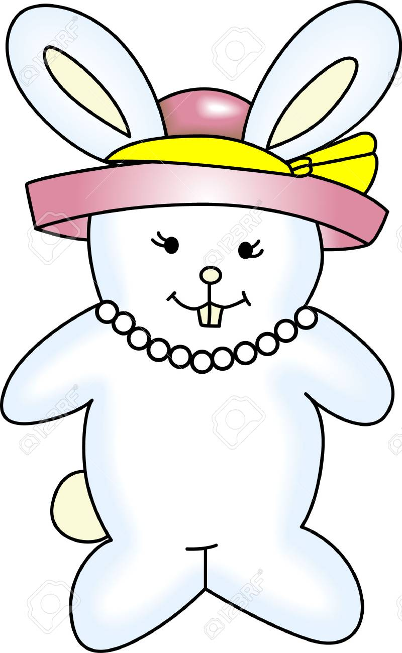 The perfect gift for grandma at easter is this cute easter bunny the perfect gift for grandma at easter is this cute easter bunny stock vector negle Image collections