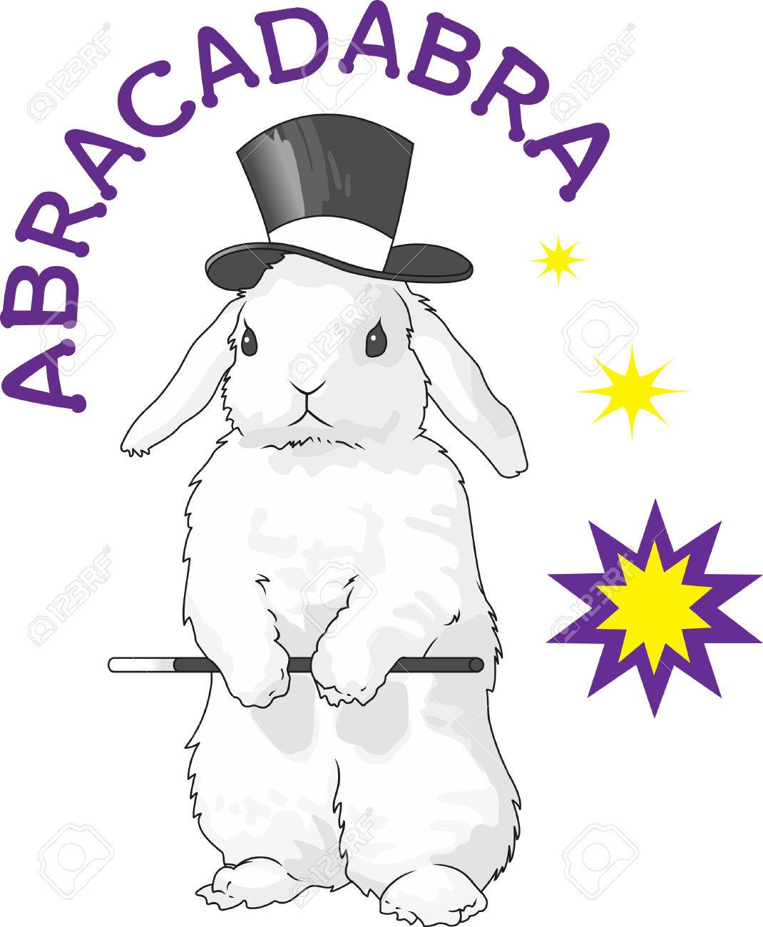This Cute Rabbit Is The Perfect Design To Promote Your Magic Show Stock Vector