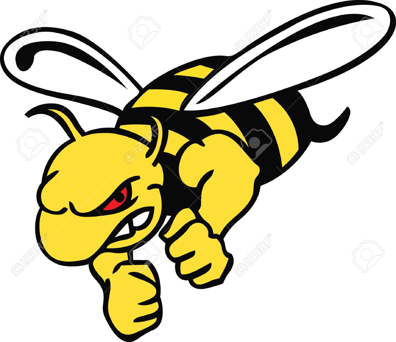 Show your team spirit with this hornet logo. Everyone will love it! - 45194955