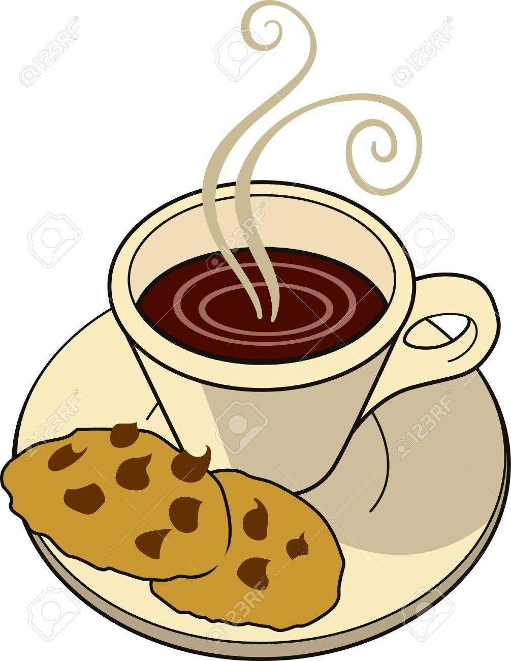 Image result for clip art cookies & coffee