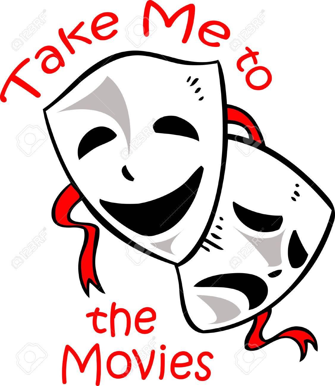 Banque d'images - Drame masques sont la conception parfaite pour promouvoir  le département d'art dramatique.