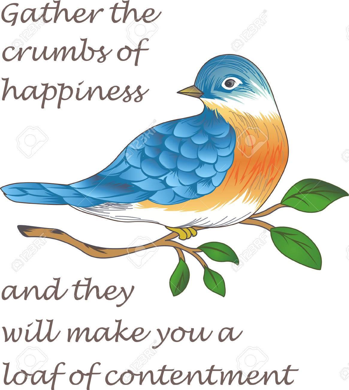 Buongiorno Sole Questo Uccello Azzurro Di Felicità Sta Portando Una Tazza Di Caffè Perfetto Per Coloro Che Hanno Bisogno Di Quella Tazza Di Caffè
